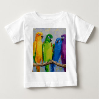 A flock of parrots baby T-Shirt