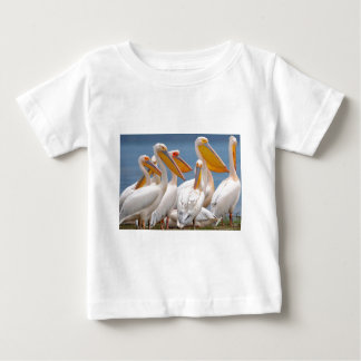 A Flock Of Pelicans Baby T-Shirt