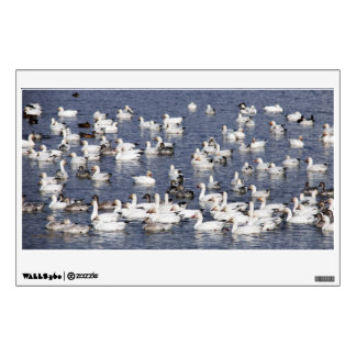 A Flock of Snow Geese at the Beach Wall Decal