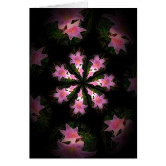 a floral mandala card from a dreamer's garden