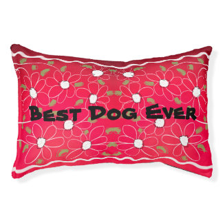 A Floral Pet Bed For The Best Dog Ever