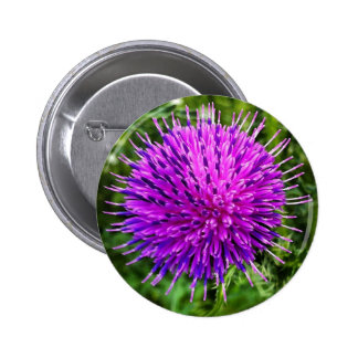 A Flower 2 Inch Round Button