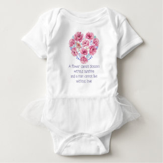 A flower cannot blossom baby bodysuit