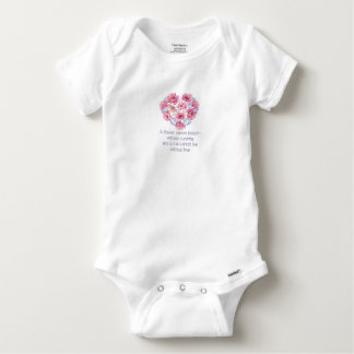 A flower cannot blossom baby onesie