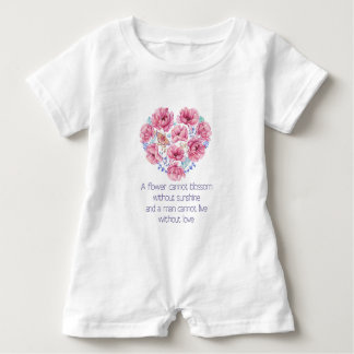 A flower cannot blossom baby romper