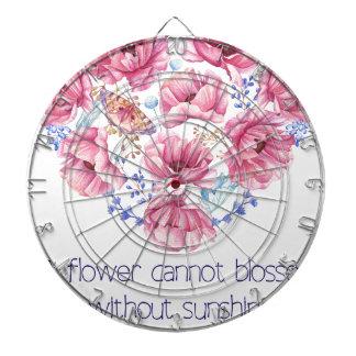 A flower cannot blossom dartboard