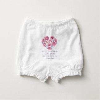 A flower cannot blossom diaper cover