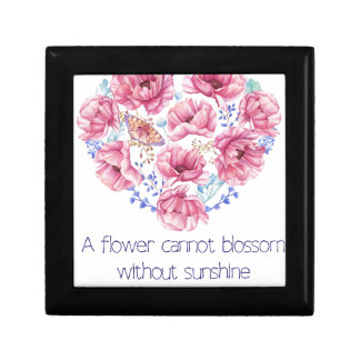 A flower cannot blossom gift box
