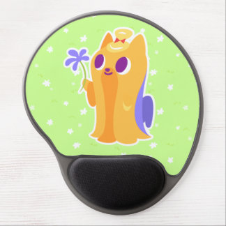 """A Flower For You"" Long-haired Kawaii Yorkie Gel Mouse Pad"