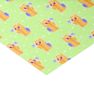 """A Flower For You"" Long-haired Kawaii Yorkie Tissue Paper"