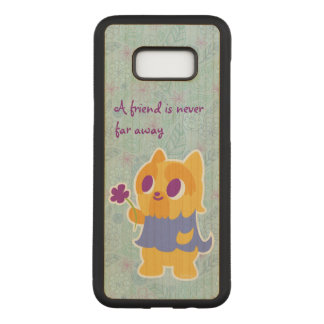 """A Flower For You"" Short-haired Kawaii Yorkie Carved Samsung Galaxy S8+ Case"