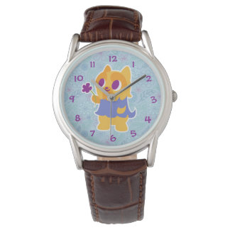 """""""A Flower For You"""" Short-haired Kawaii Yorkie Watches"""