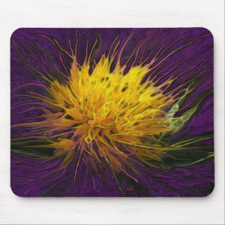 A Flower in the Dark (Purple) Mouse Pad