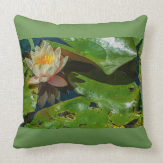 a flowery waterlily on cushion