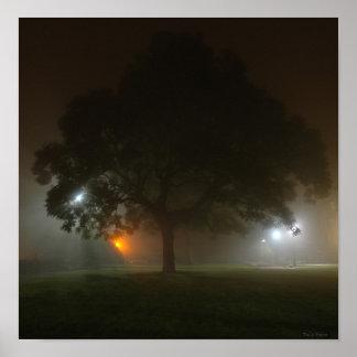 A Foggy Ath Lawn Poster