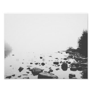 "A Foggy Day on Jordan Pond (14"" x 11"") Photo Print"