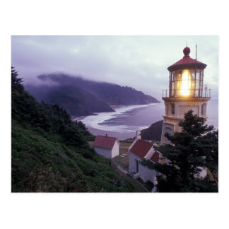 A foggy day on the Oregon coast at the Heceta Postcard