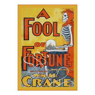 A Fool Of Fortune ~ Vintage Theatre Poster