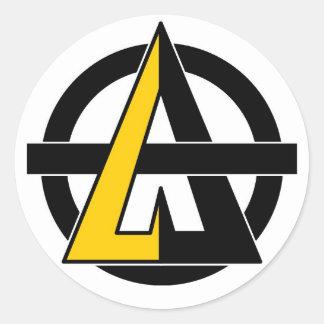 A for Agorism Classic Round Sticker