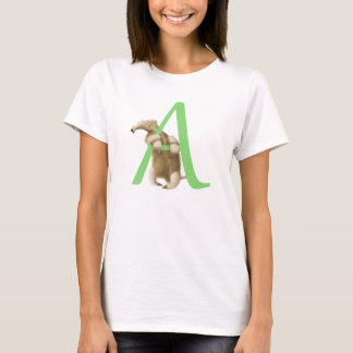 A for Anteater Monogram Initial T-shirt
