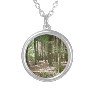 A forest silver plated necklace