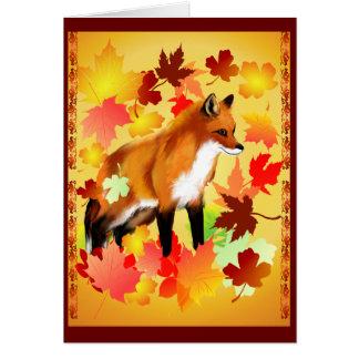 A FOX in FALL Card