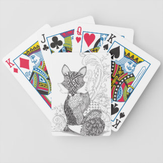 A Foxy Fox Bicycle Playing Cards