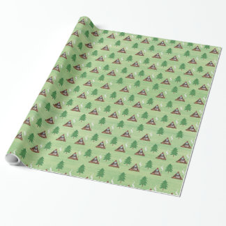 A-frame And Pine Wrapping Paper