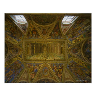 A frecoed ceiling by Raphael in the Hall of Poster