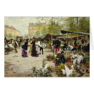 A French Flower Market Card