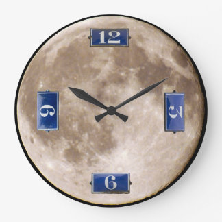 A French Moon Large Clock