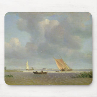 A fresh breeze on the Elbe, c.1830 Mouse Pad