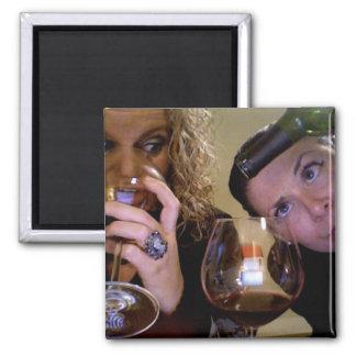 A Friend ALWAYS Makes A Glass Half Full Magnet