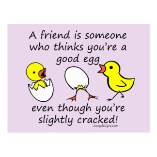 A Friend is Someone Funny BFF Saying Postcard