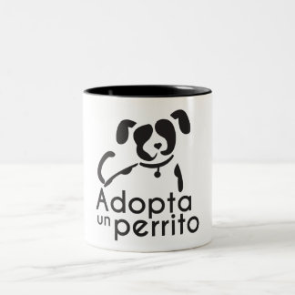 A friend wins, adopts a mascot Two-Tone coffee mug