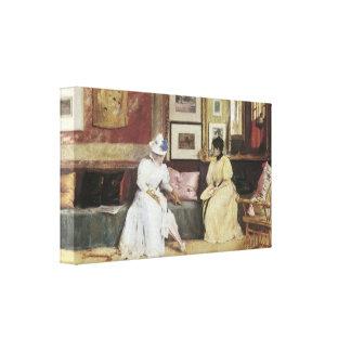A Friendly Call, 1895 Canvas Prints