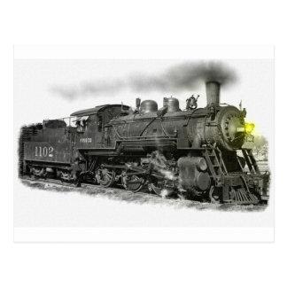 A Frisco Steam Train Postcard