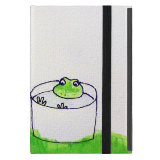 A frog and the full moon iPad mini cover