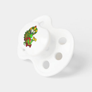 A frog playing the Guitar Pacifier