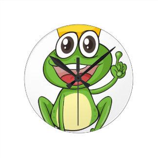 a frog wallclock