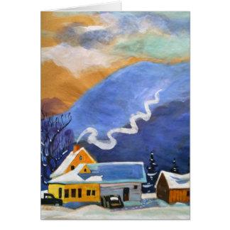 A Frosty Little Farm Card