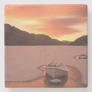 A Frozen Loch | Ruthven, Uk Stone Coaster