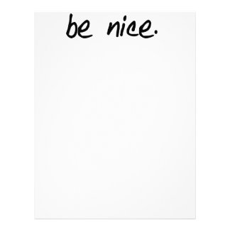 A full selection of be nice products letterhead template