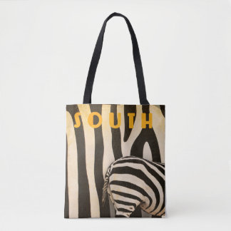 A fun retro zebra (South Africa) double sided Tote Bag
