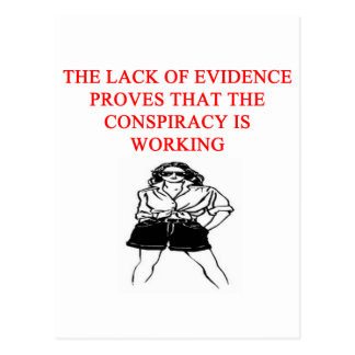 a funny conspiracy theory new afe joke postcard