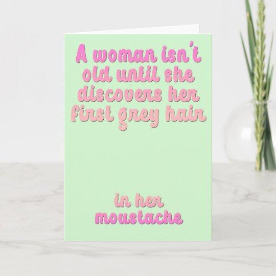A Funny Female Birthday Card Zazzle