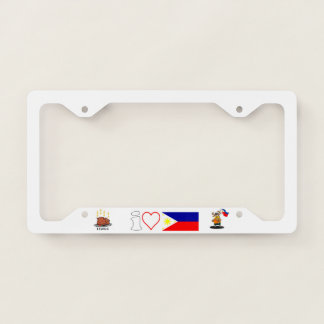 A Funny I love the Philippines License Plate Frame