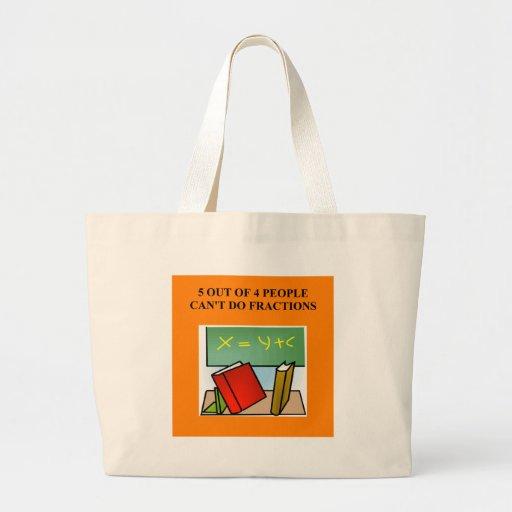 a funny math joke jumbo tote bag