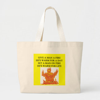a funny proverb for feminists about dealing with m large tote bag
