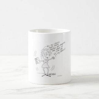 A funny stress cartoon for women coffee mug
